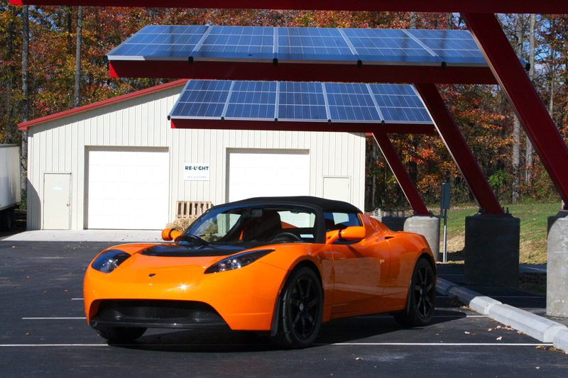 Pickering Energy Solutions Tesla Roadster Powered By Pv