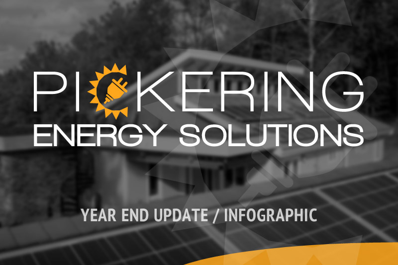 PES Year End News & Solar Energy Infographic