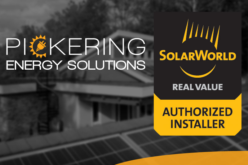 Pickering Energy Solutions Now an Authorized SolarWorld Installer