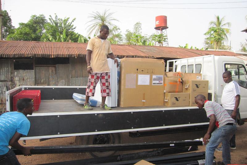 Equipment arriving