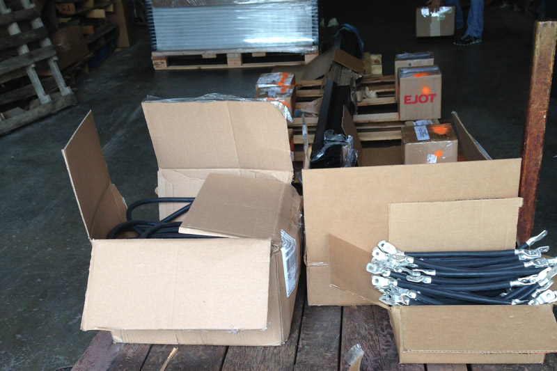 Equipment repackaged and ready to ship from Parkersburg, WV