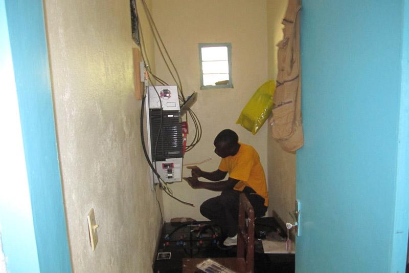 Inverter installation in progress