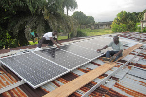 Amazing Grace Solar Panel Installation in Progress
