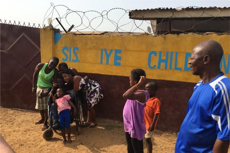 Sis Iye Clinic Entrance with Momo