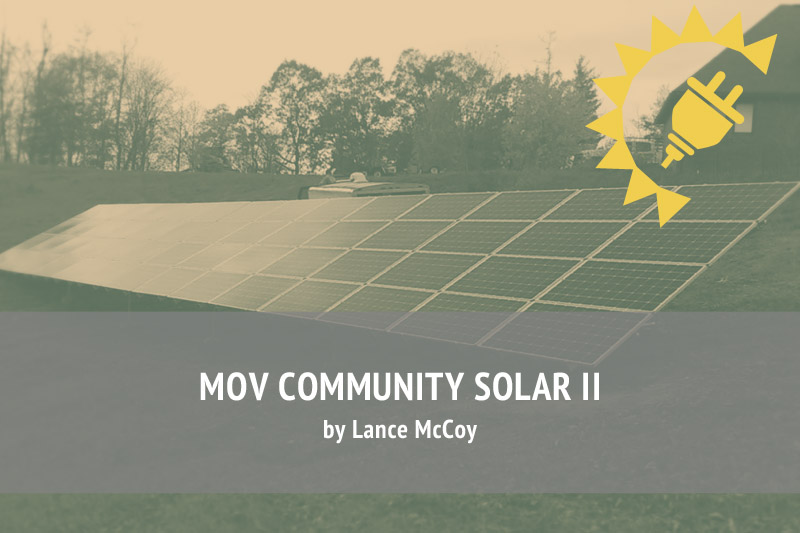 Let's Do It Again! Here Comes MOV Community Solar II